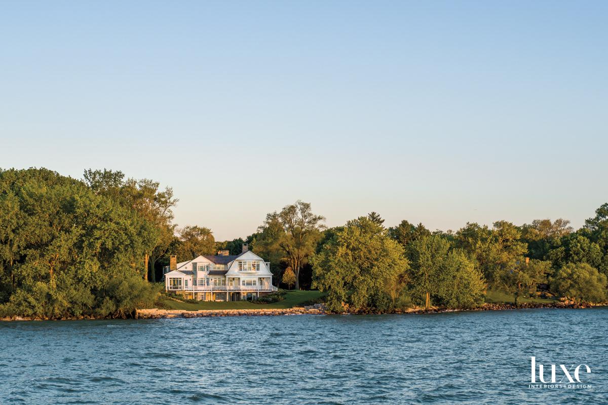 A shingle-style home on Lake...