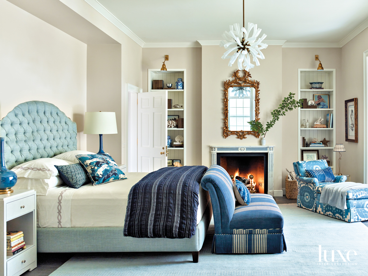 A bedroom in multiple shades...