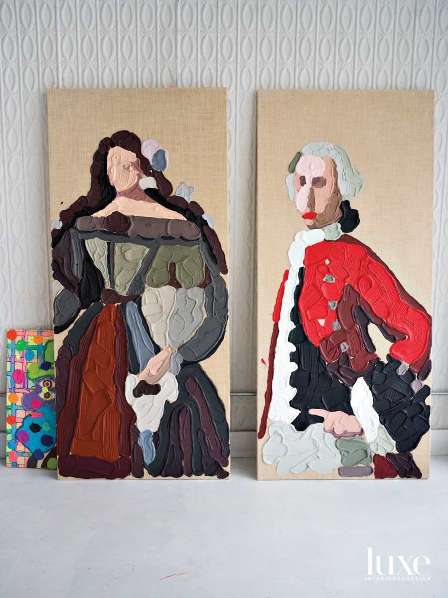 portrait of a lady and Antonio Ulloa y de la Torr