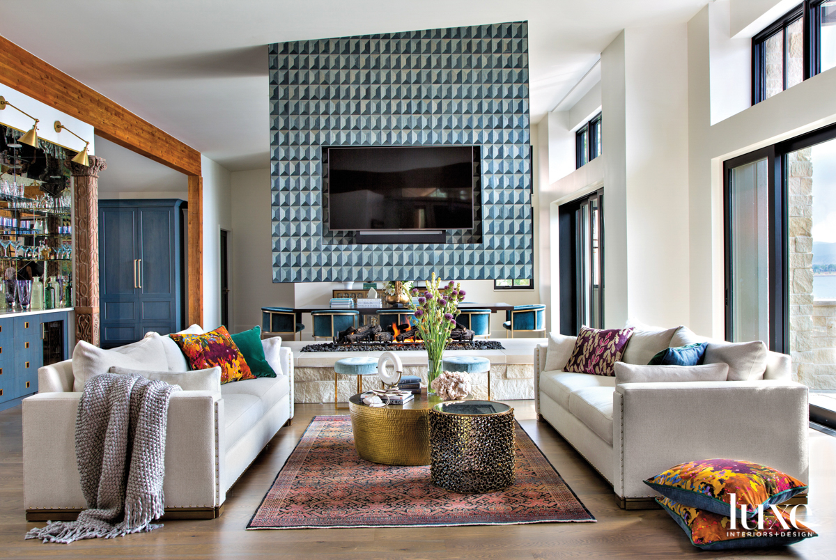 living room centered on a...