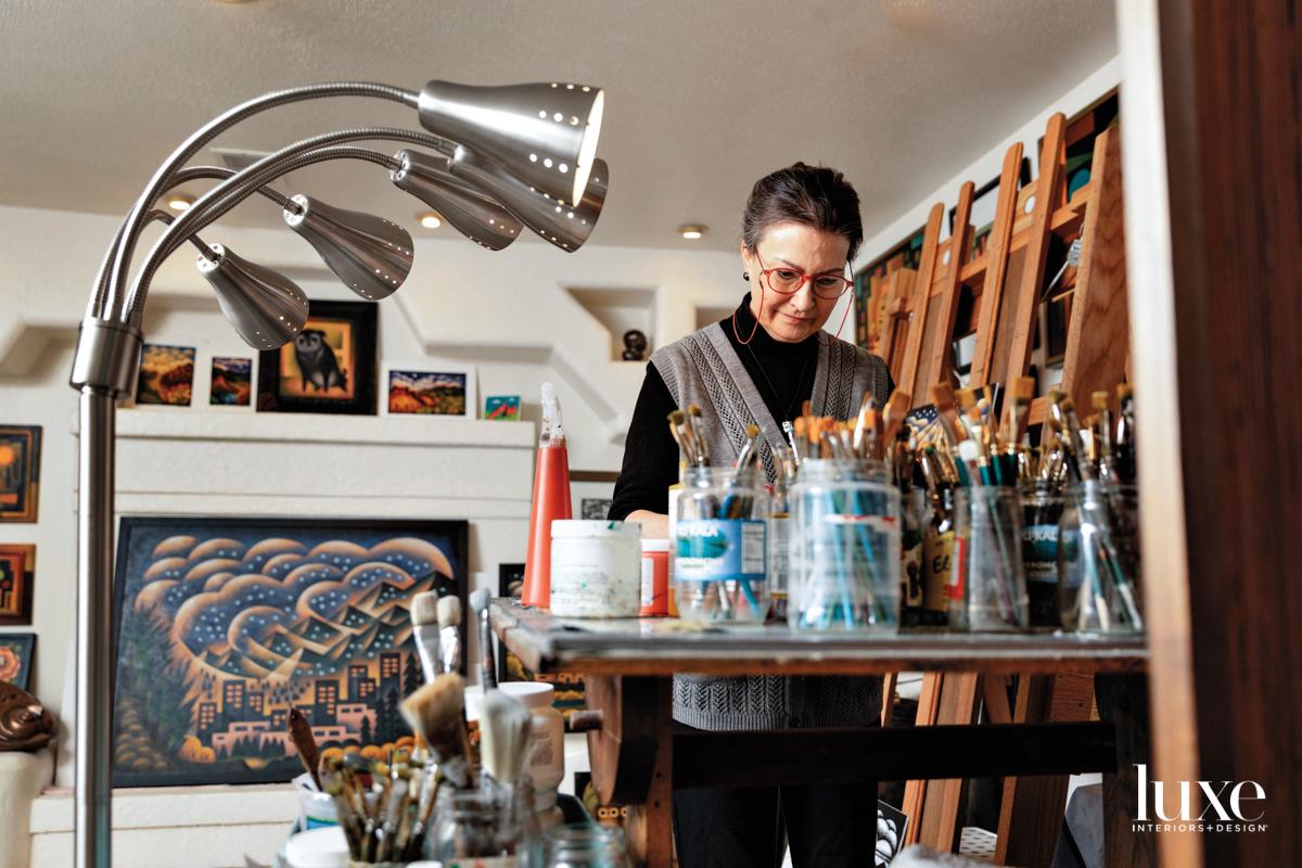Sushe Felix works in her Denver studio.