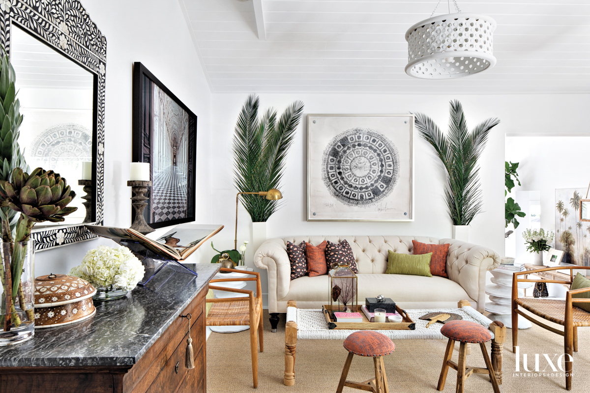 family room with white sofa,...