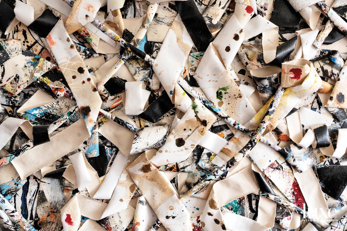 close-up of 3d collage by jordan betten