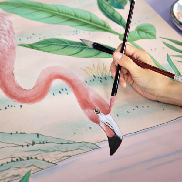 De Gournay's Bespoke Wallpaper Takes Center Stage At The Colony