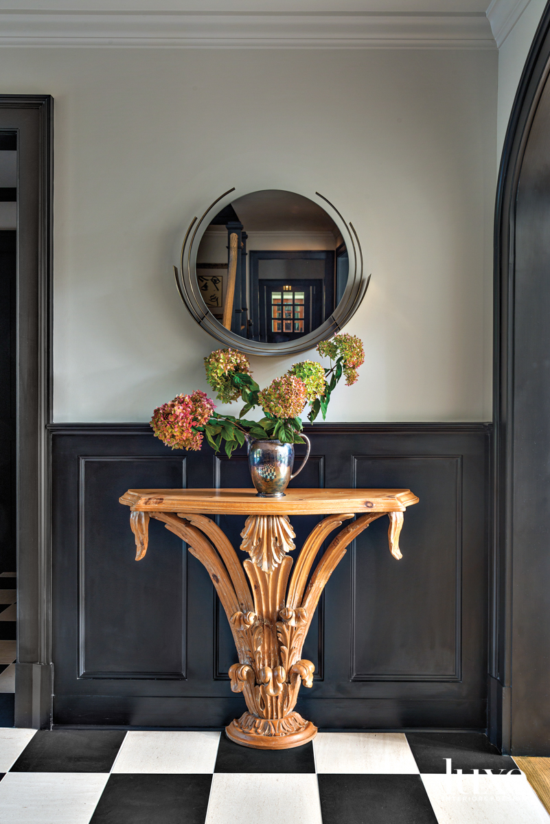 Antique console table foyer