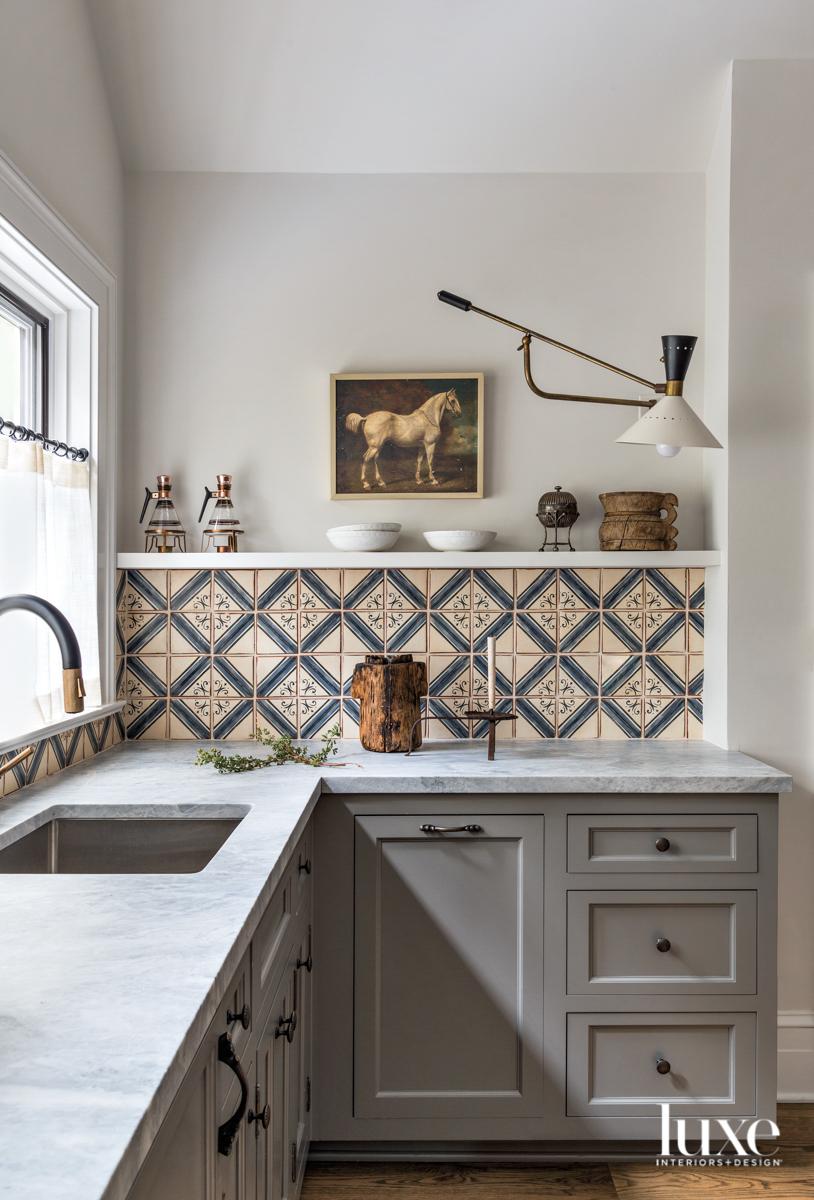 tiled guest kitchen