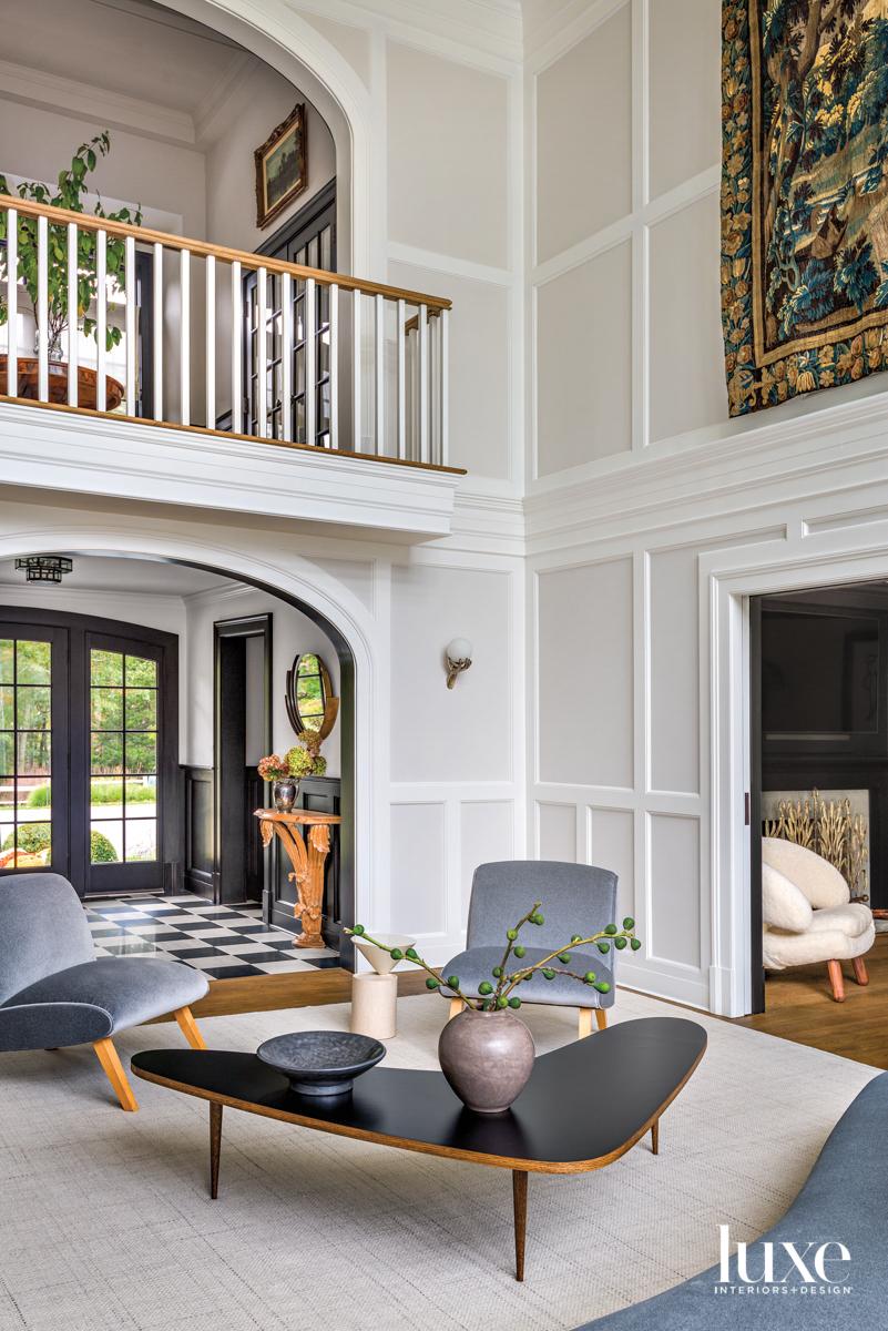 paneled sitting room