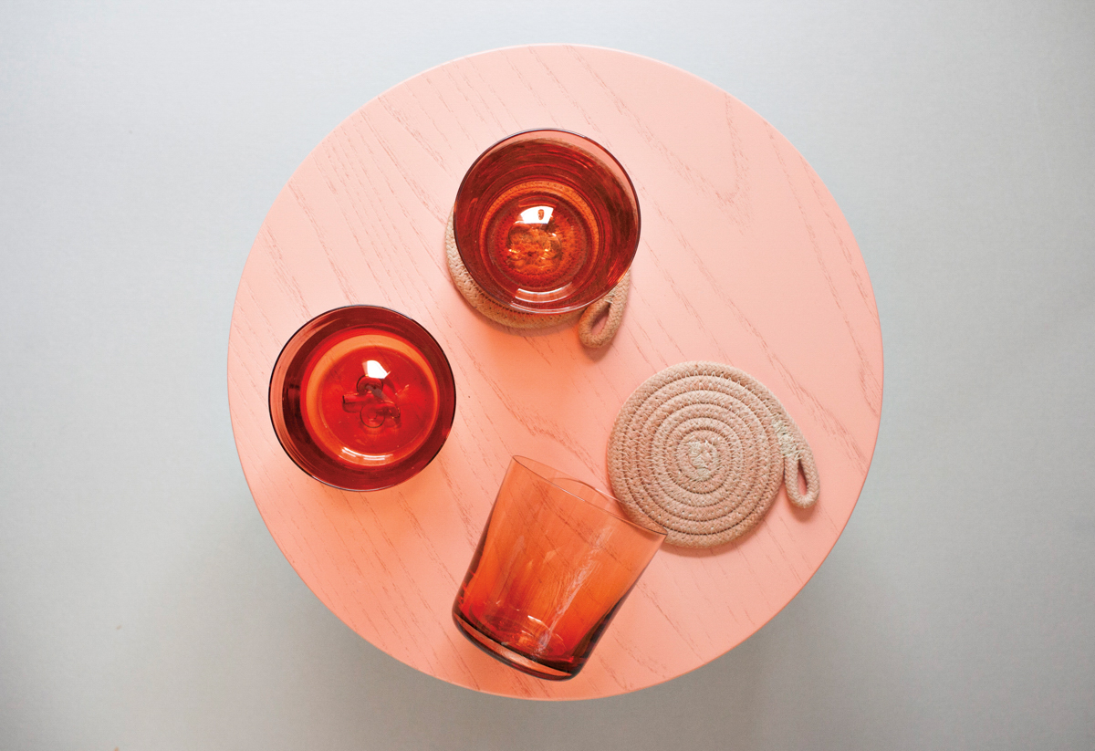 orange drinking cups
