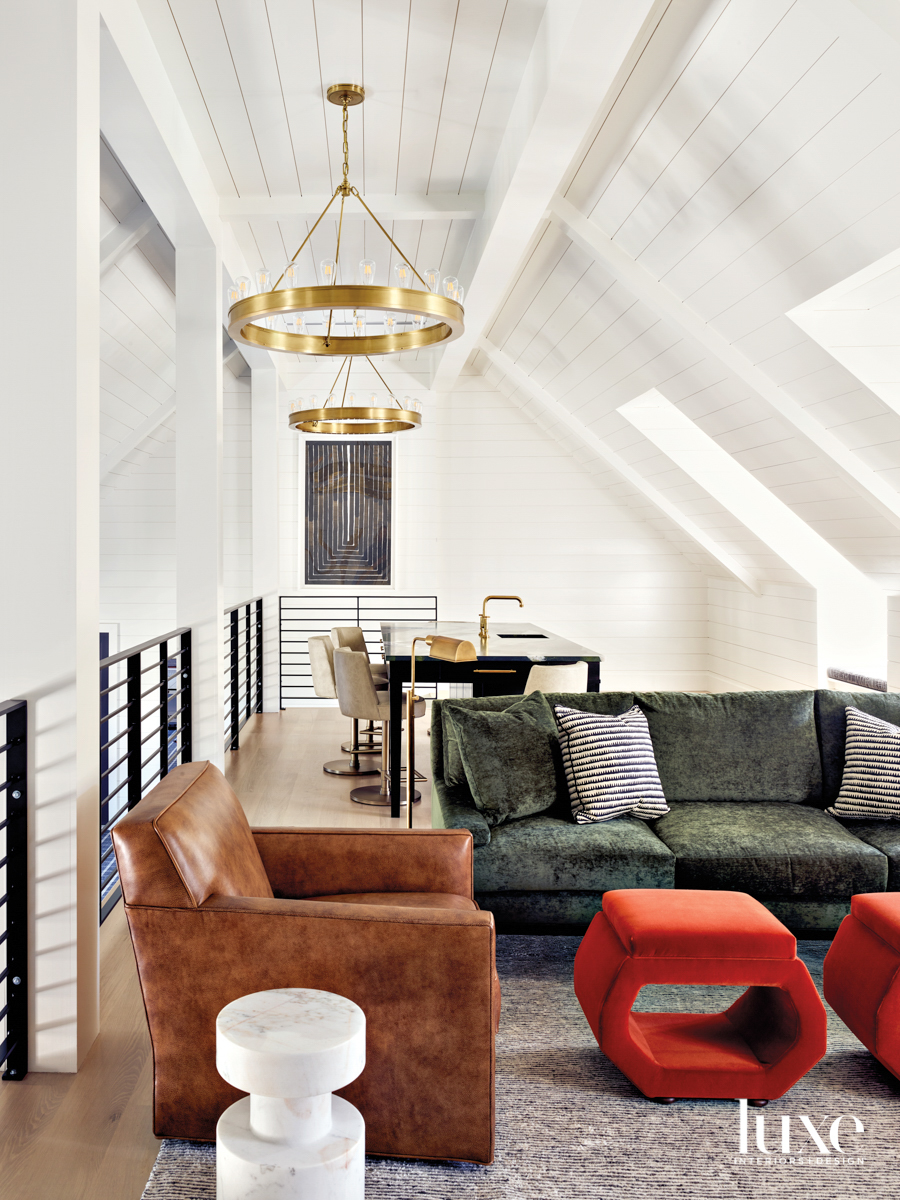 Upstairs loft game room with...