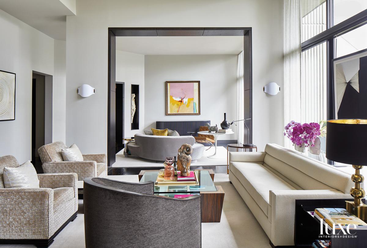 View through a glamorous modern...