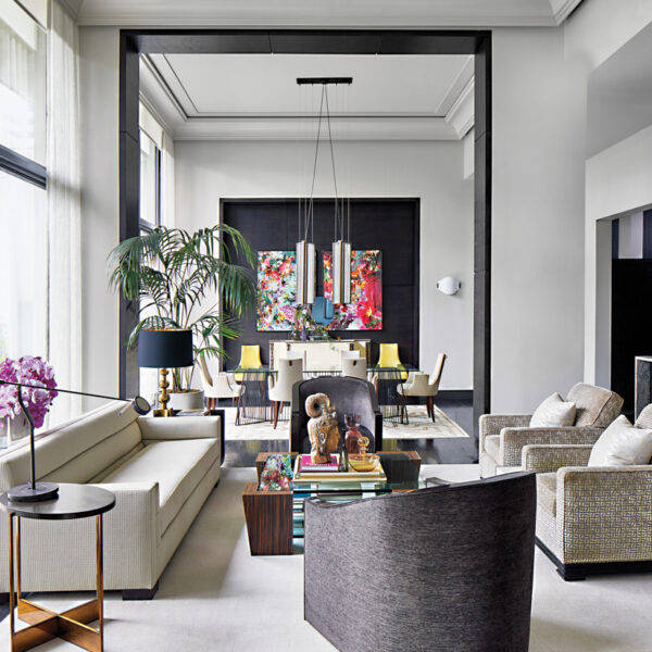 '70s Glam Meets Art Deco In An Ultra Posh Atlanta Condo