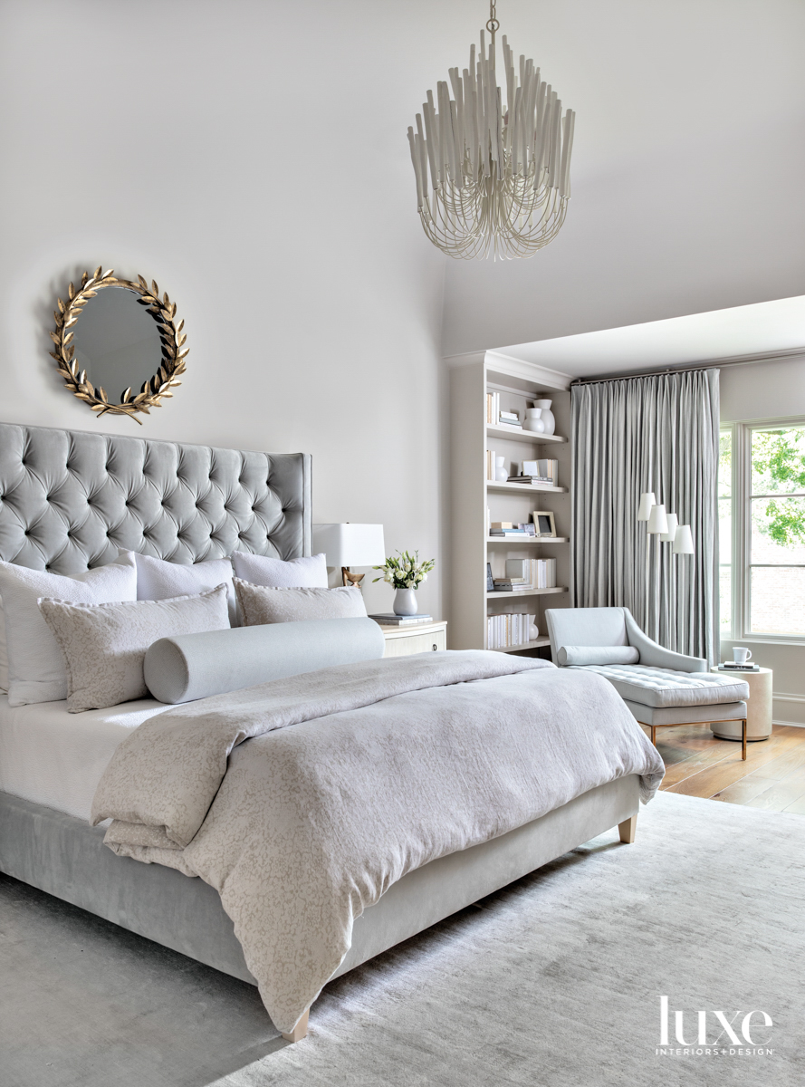 Main bedroom featuring monochromatic accessories...