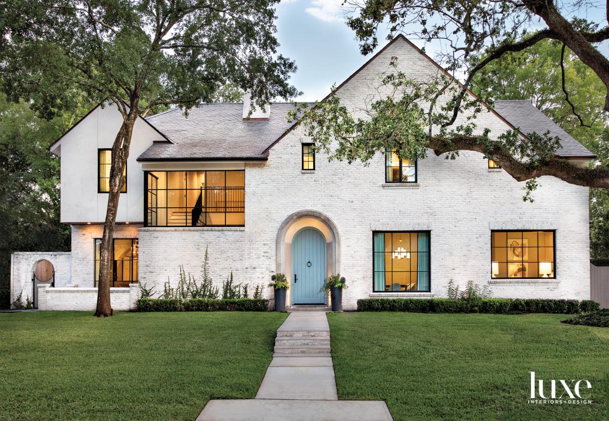 Facade of a Houston home...