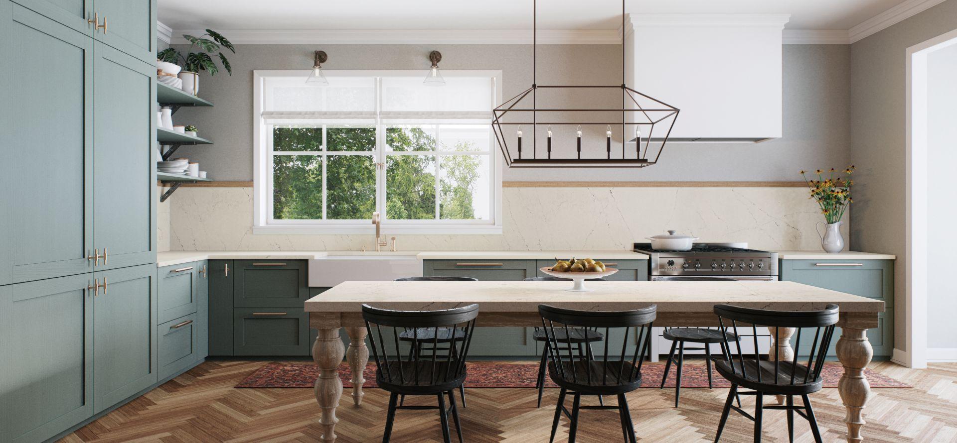caesarstone aterra blanca kitchen table