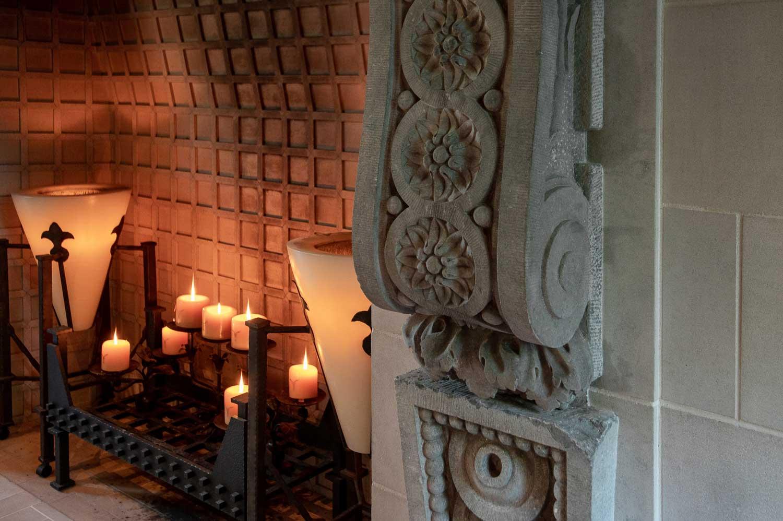 romanov estate fireplace