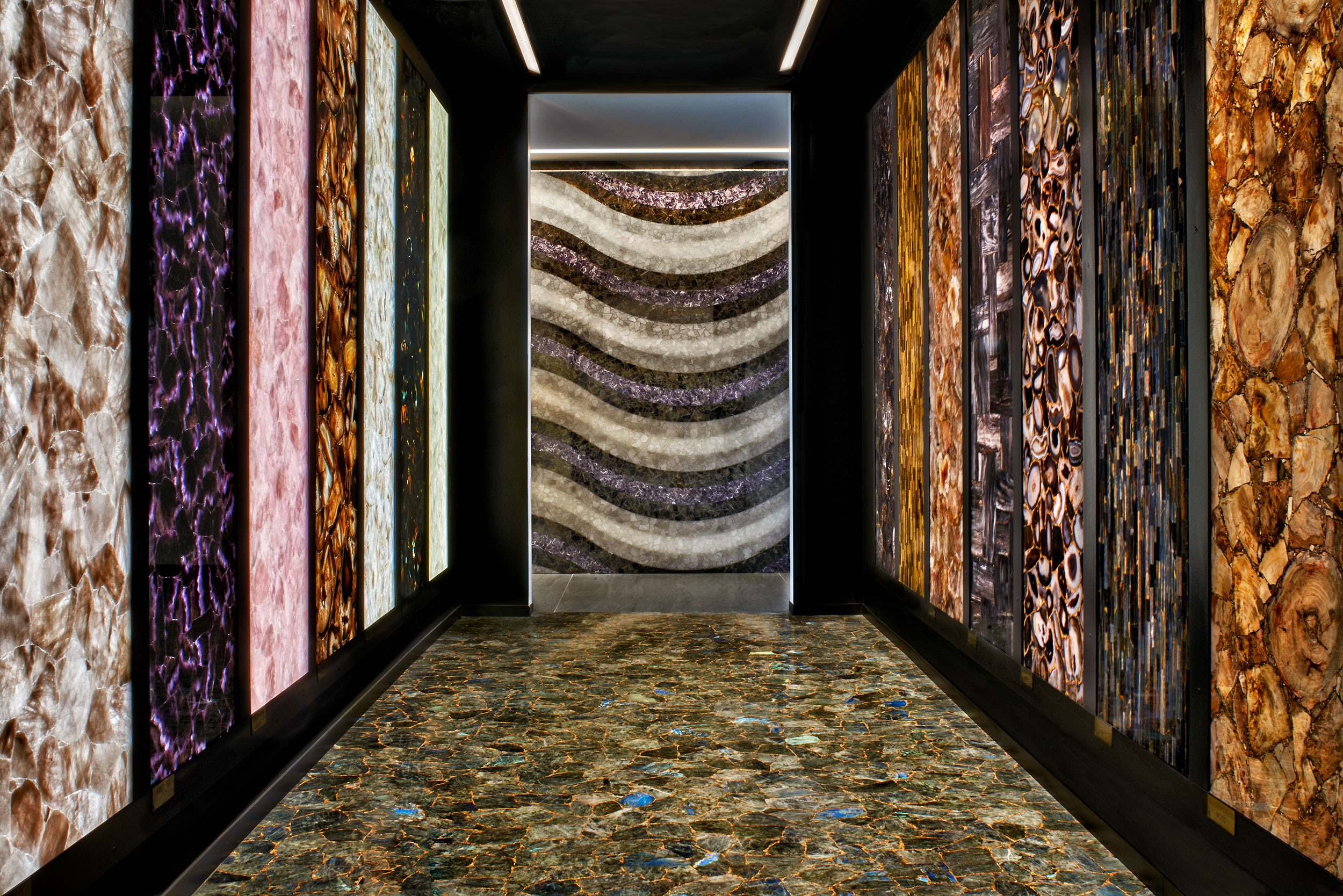 gallery of colorful stones