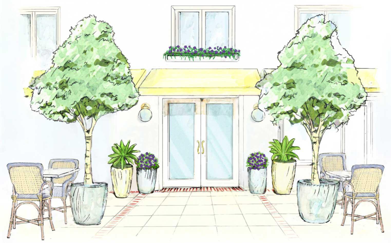 le bilboquet palm beach sketch