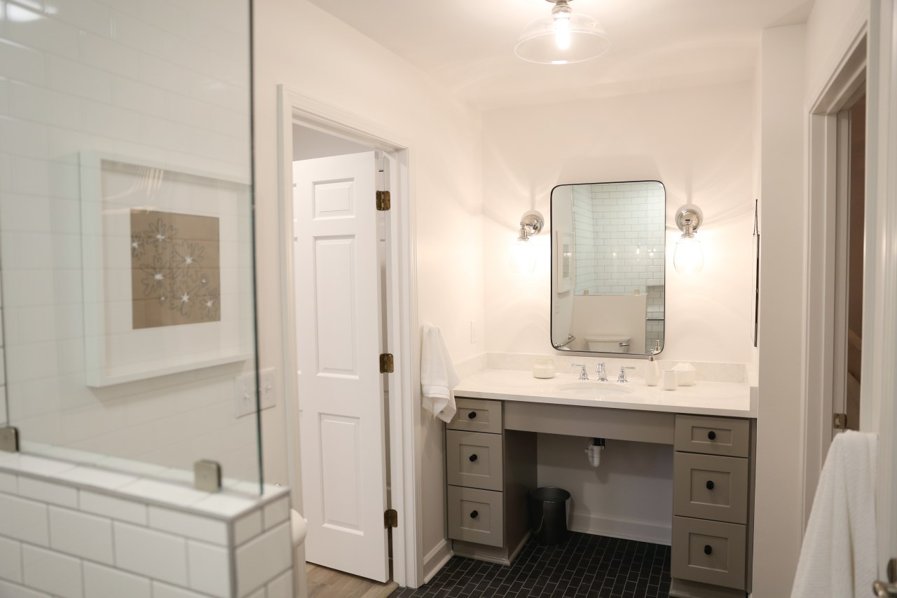 soard white bathroom vanity and shower