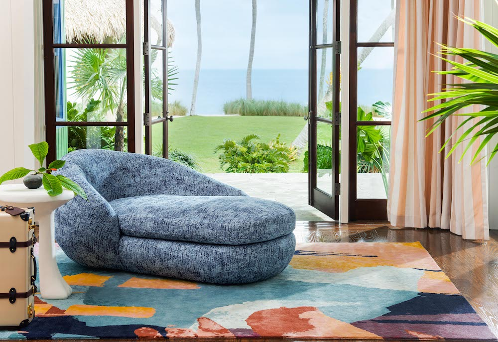 perennials fabric sofa rug