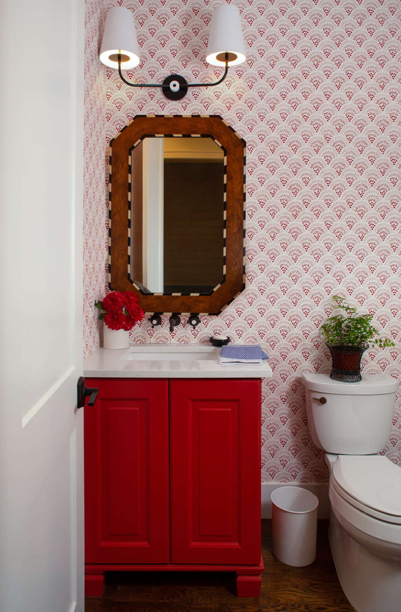 A powder room is done...