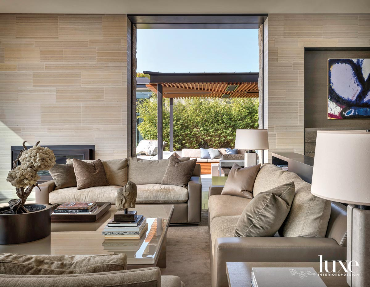 View of living room with...
