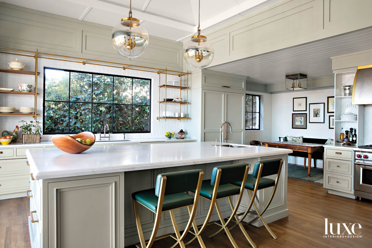 Kitchen with large island and...