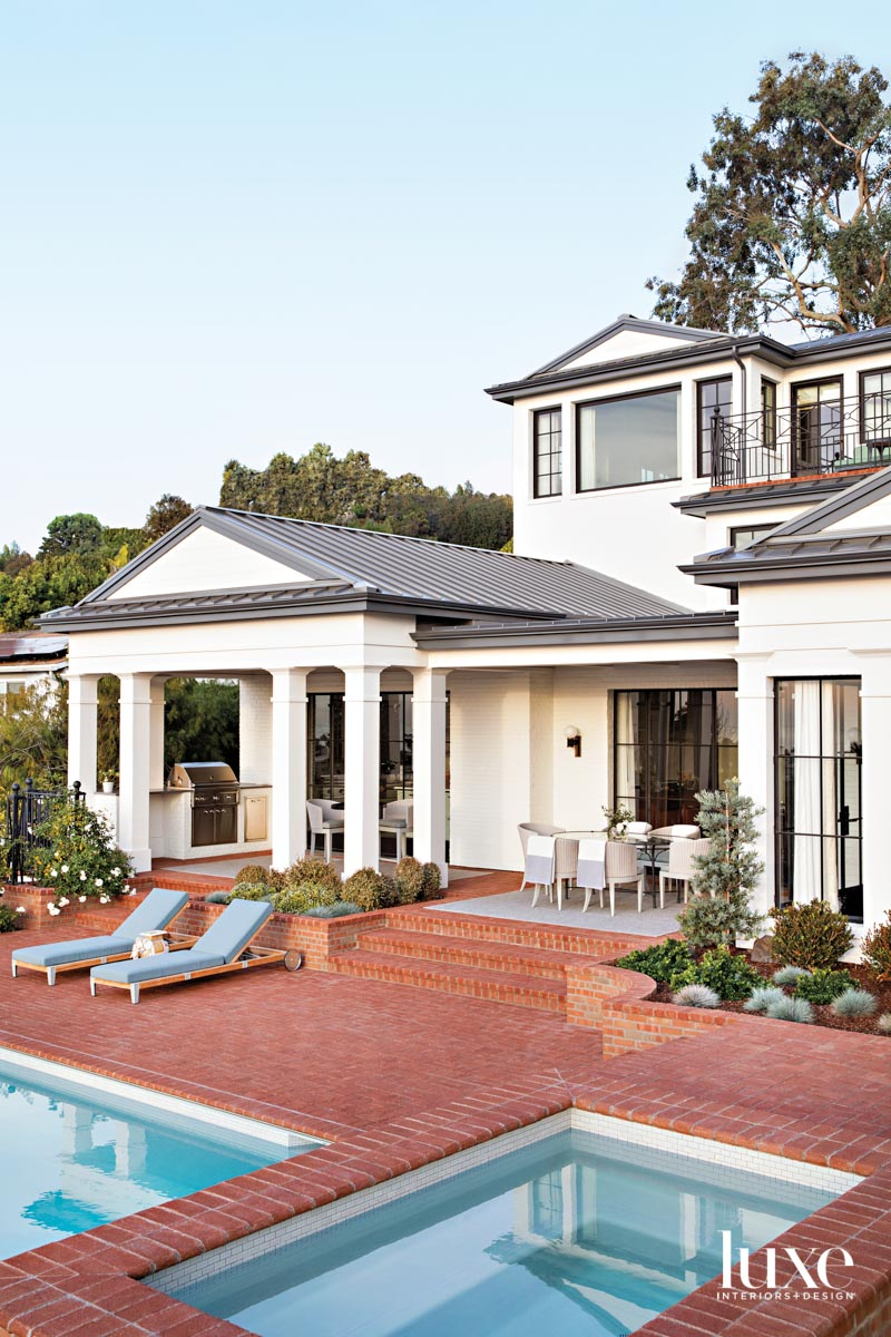 Exterior of house painted white...