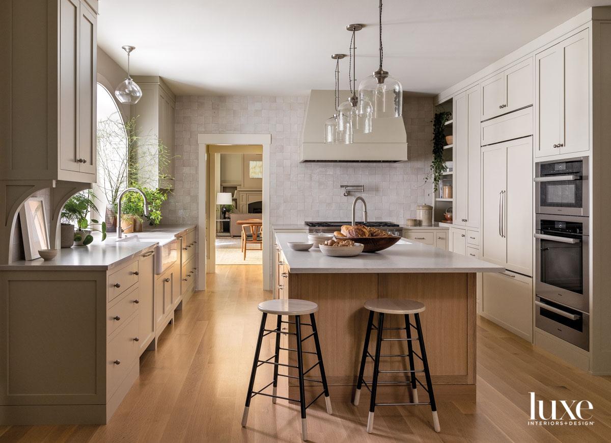 Image of kitchen facing zelige...