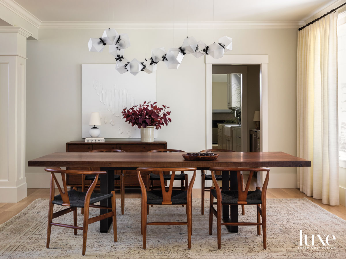 Dining room showing a table...