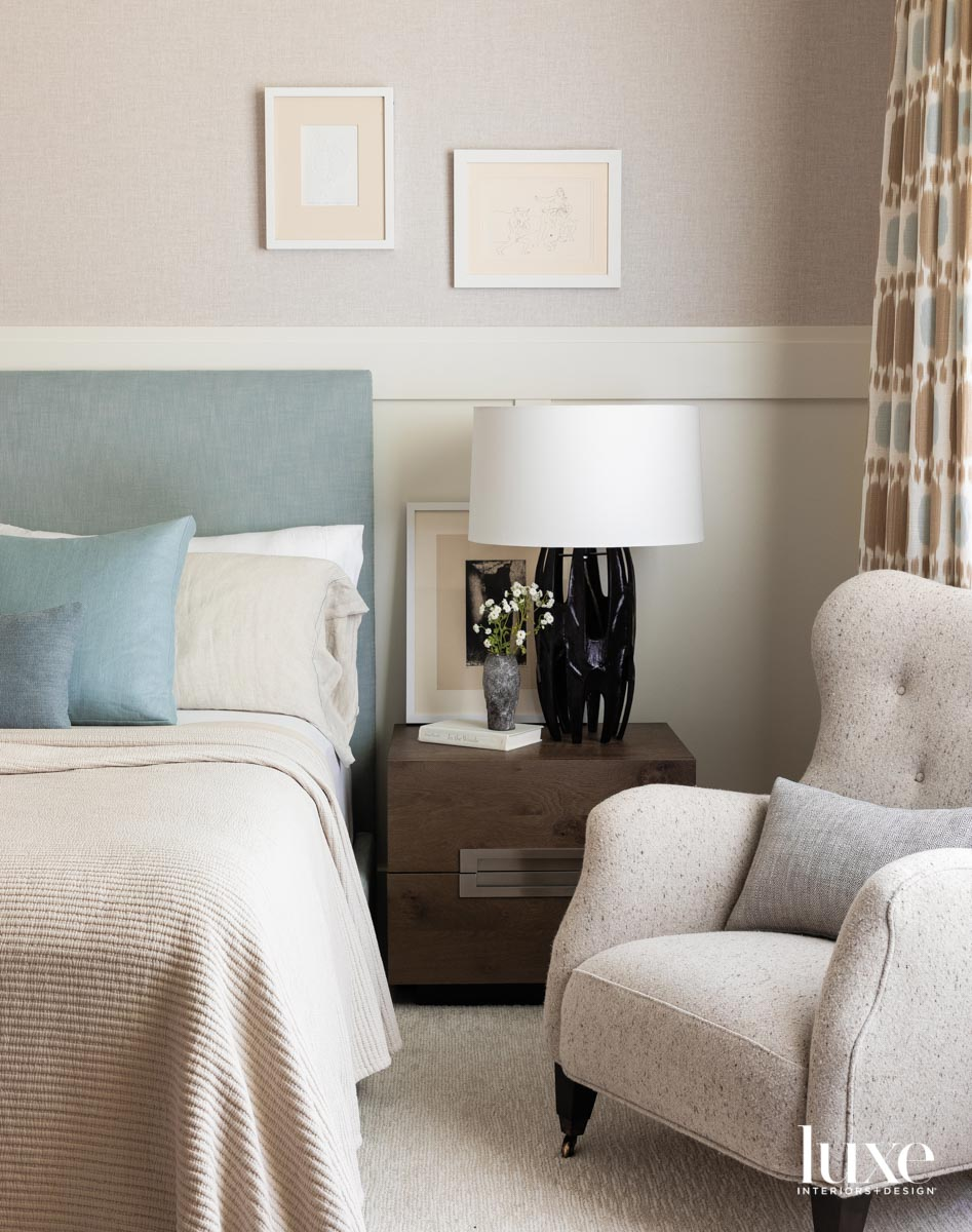 Detail of main bedroom featuring...