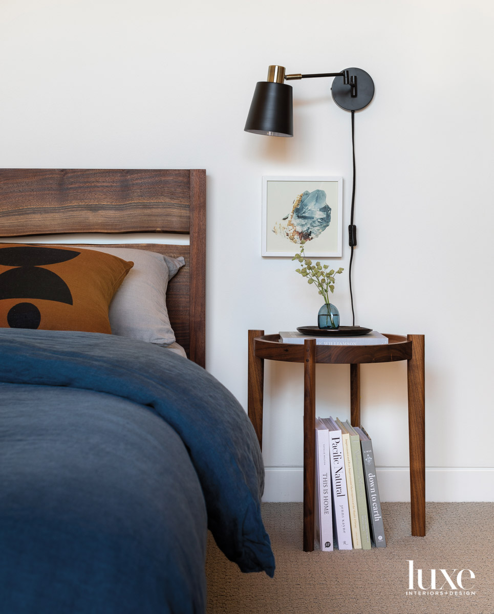 Detail of main bedroom with...