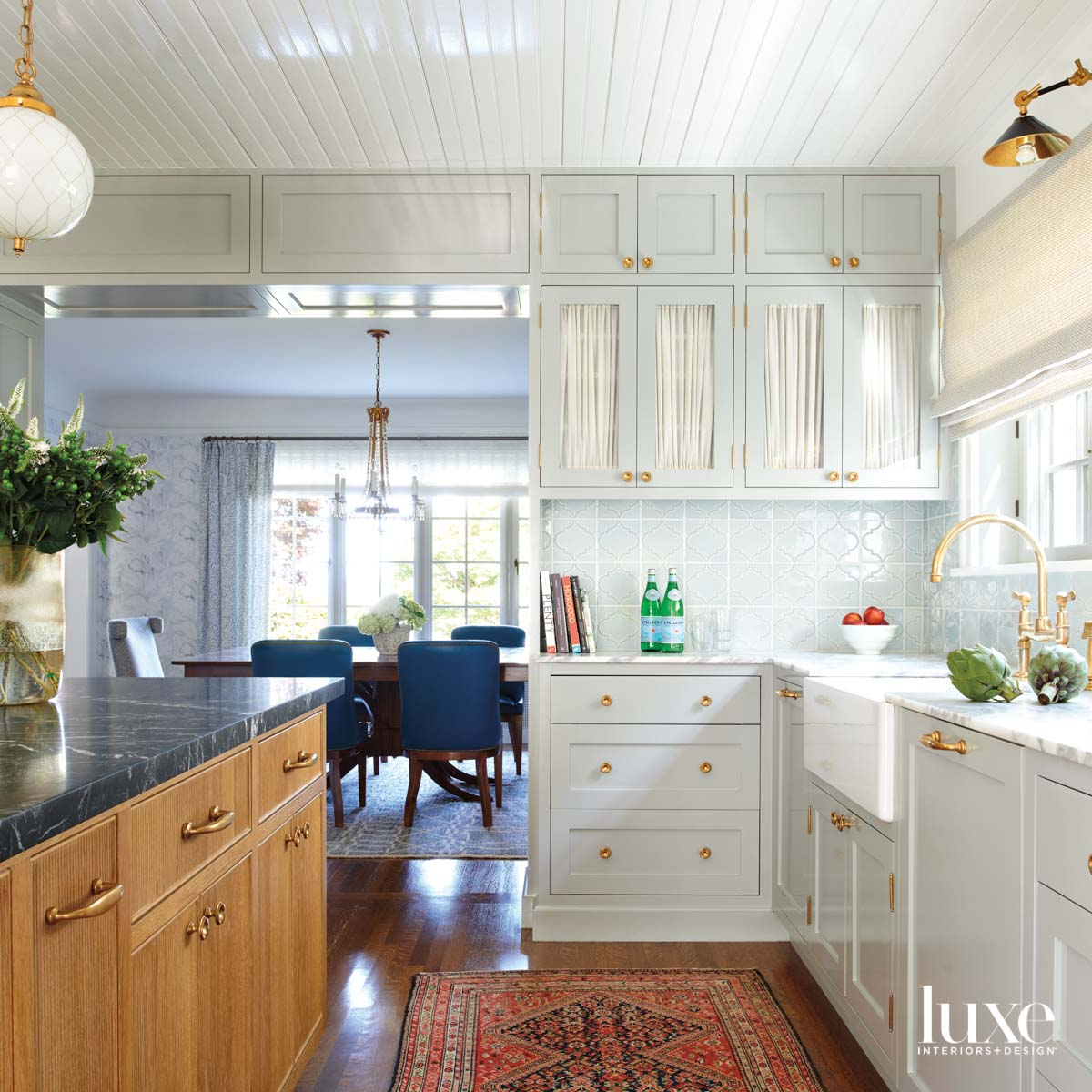 View of kitchen island and...
