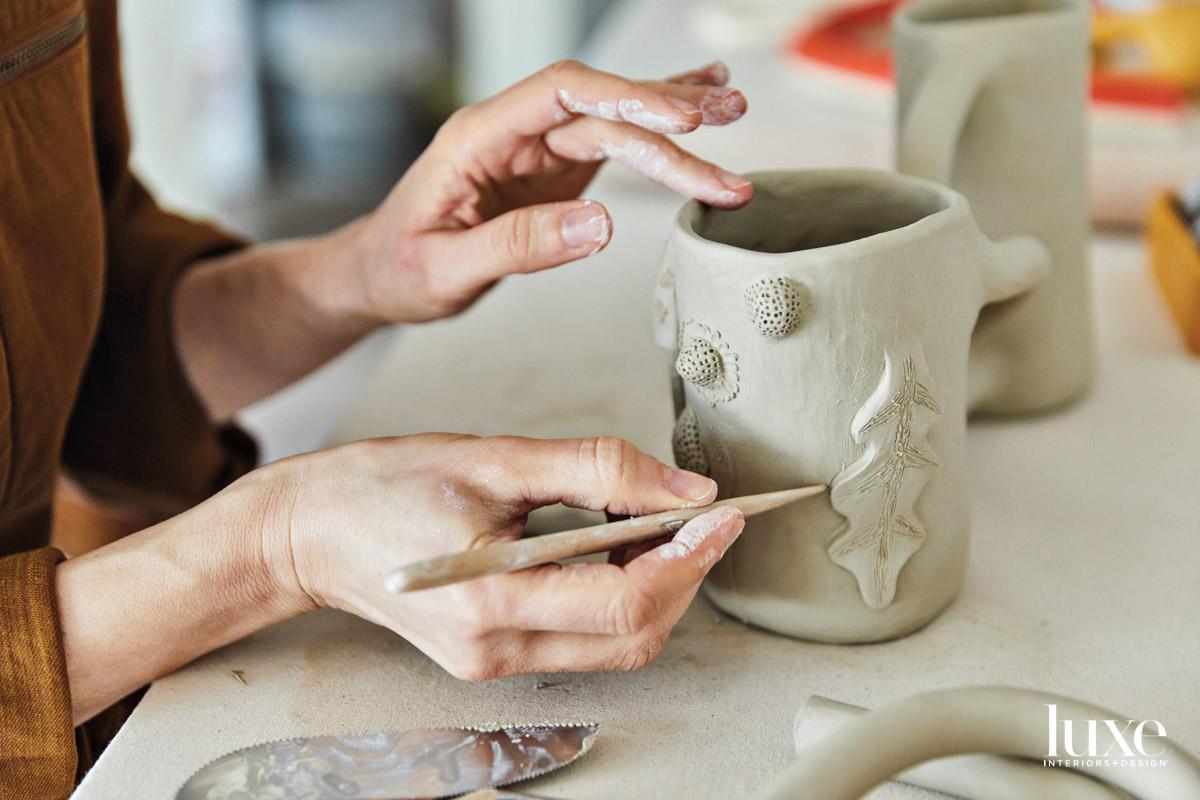 unglazed ceramic vessel