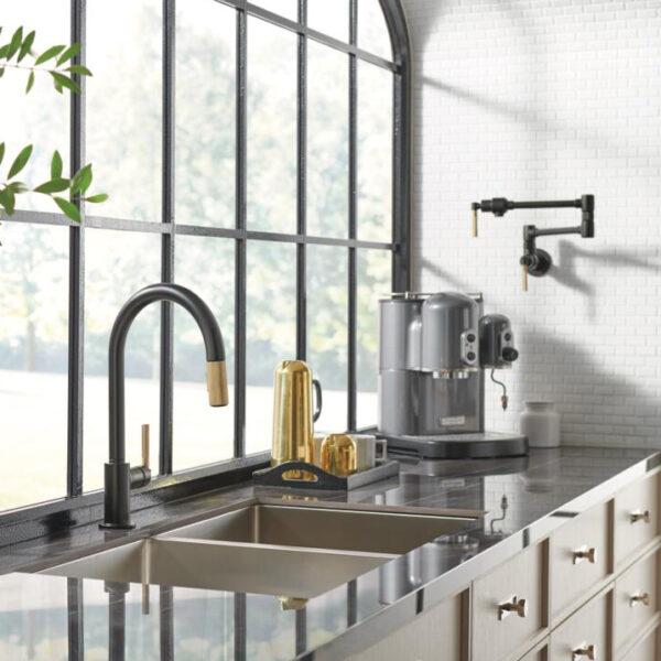 Litze® Pull-Down Faucet and Wall Mount Pot Filler