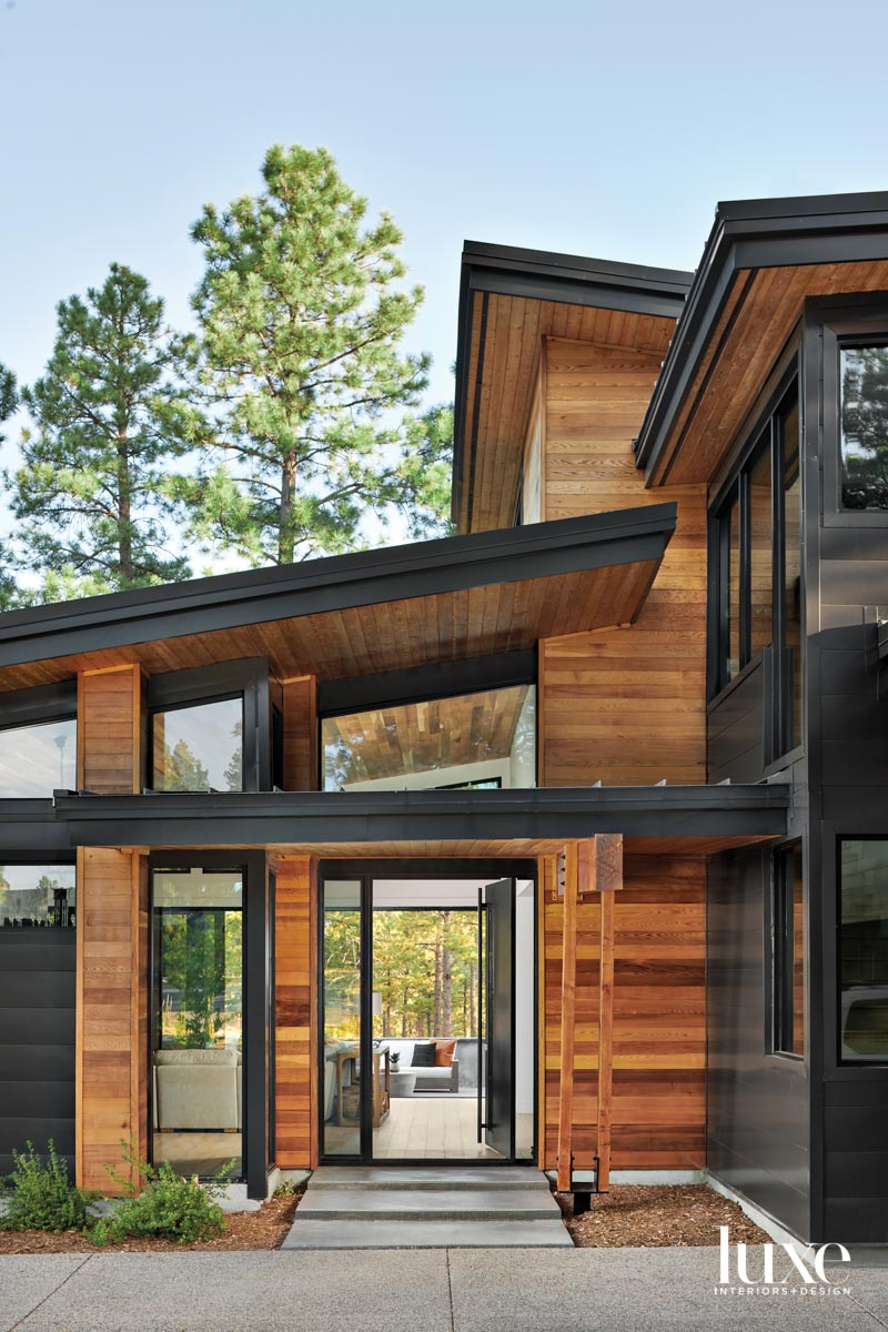 The exterior of a modern,...