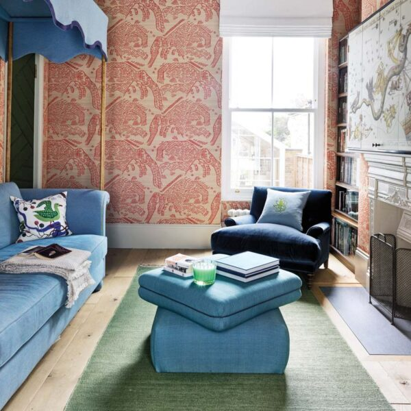How To Use Color As A Whimsical Pop In A Neutral Space