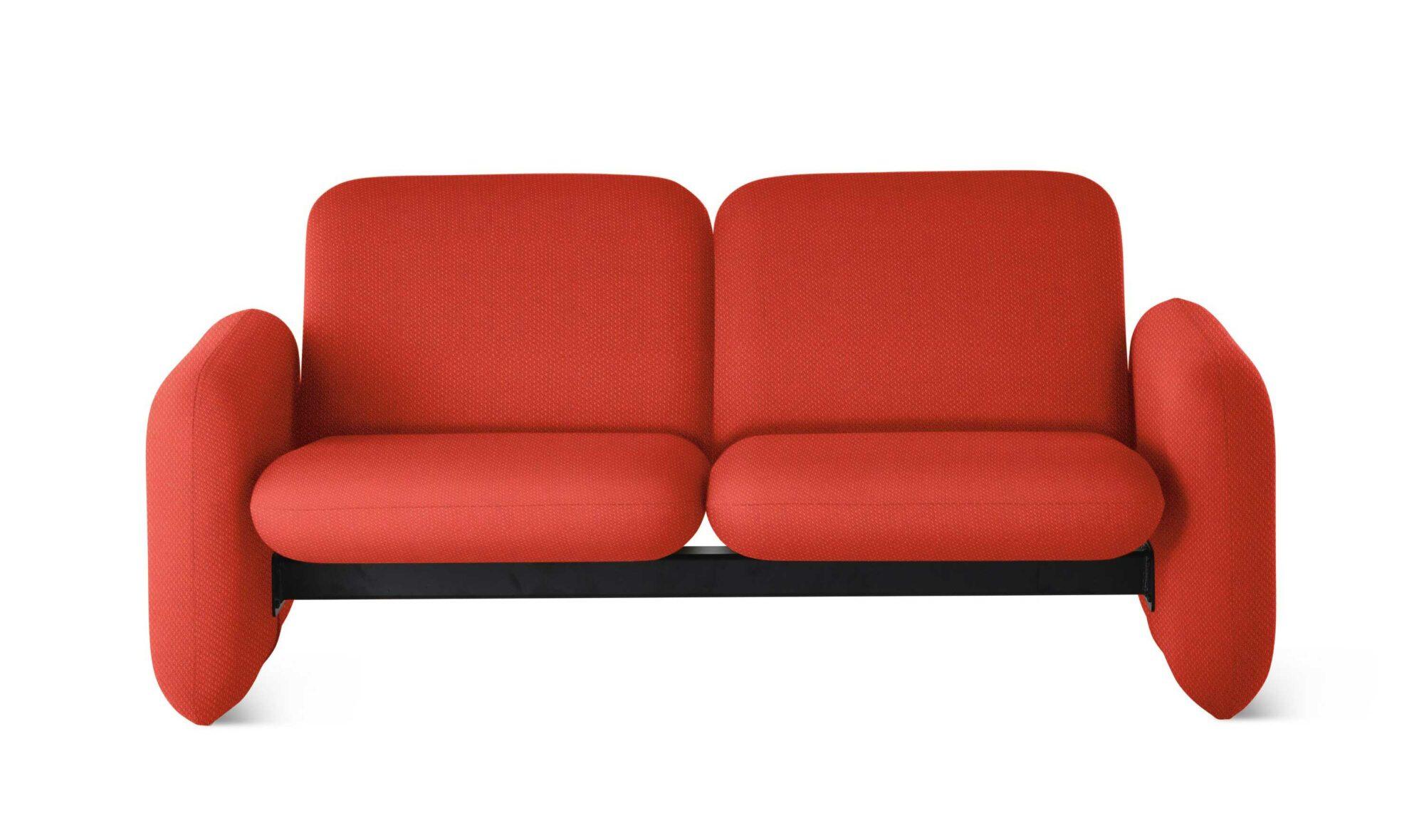 red modular sofa