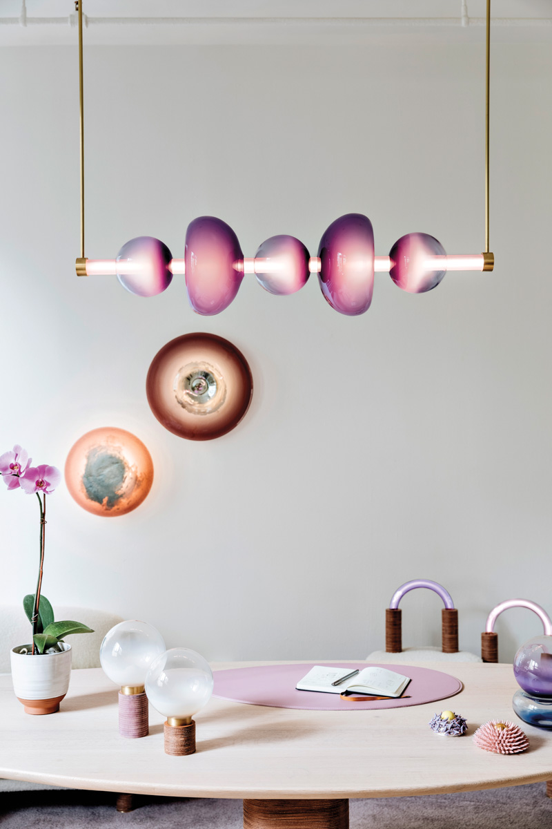 Purple Takes Center Stage In This Lighting And Chair Collection {Purple Takes Center Stage In This Lighting And Chair Collection} – English