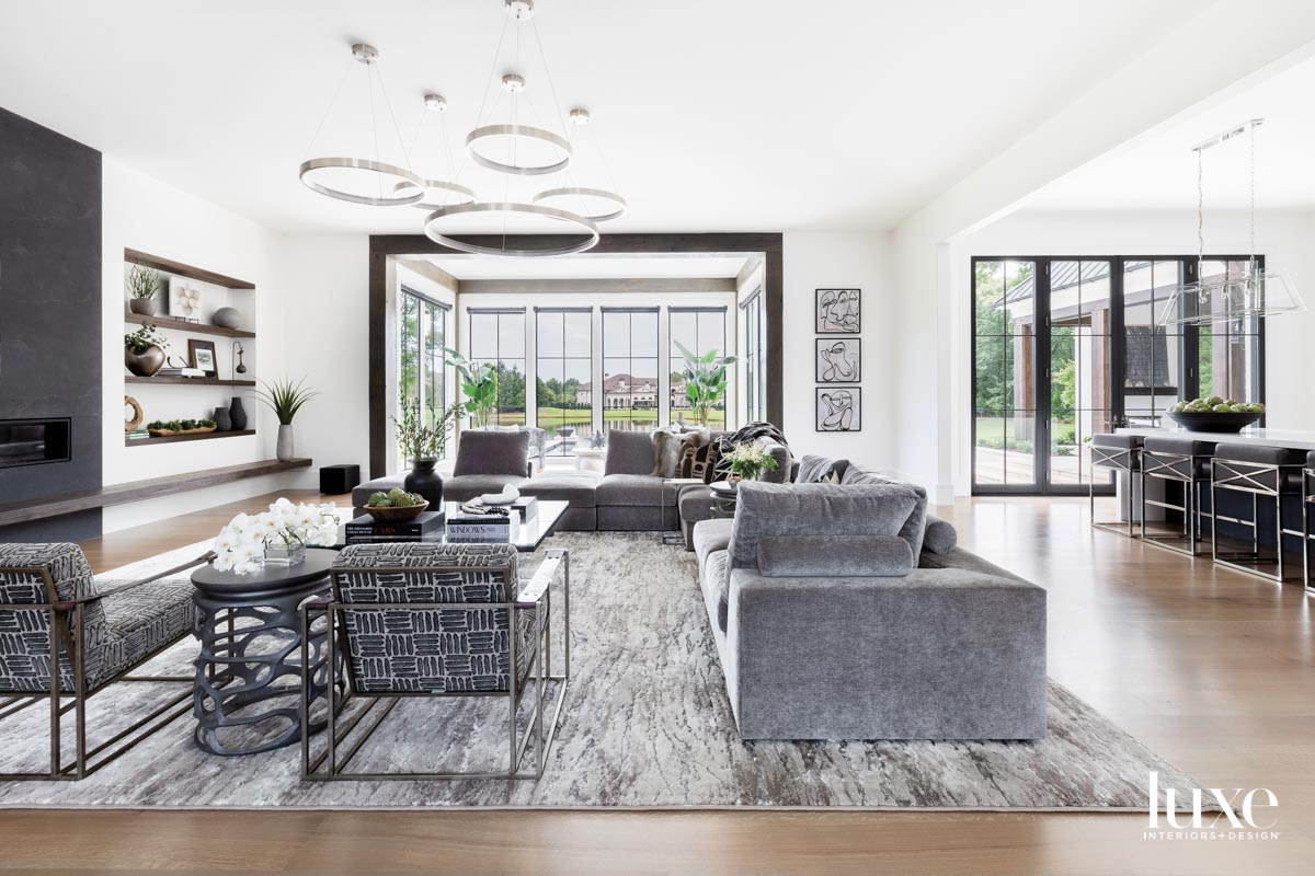 Light-filled family room with gray...