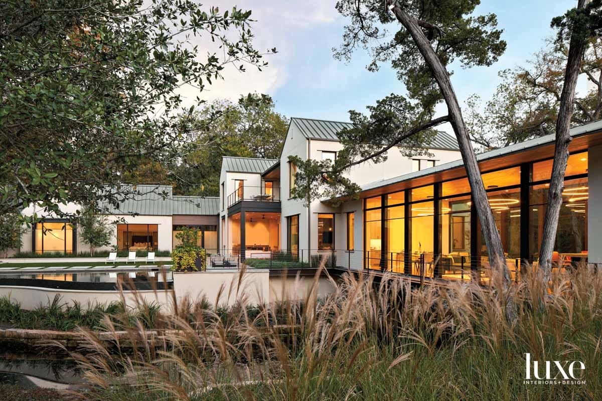 house exterior with light stucco...
