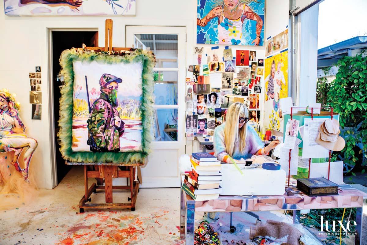 Colorful art studio