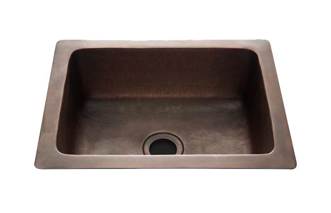 waterworks hammered sink