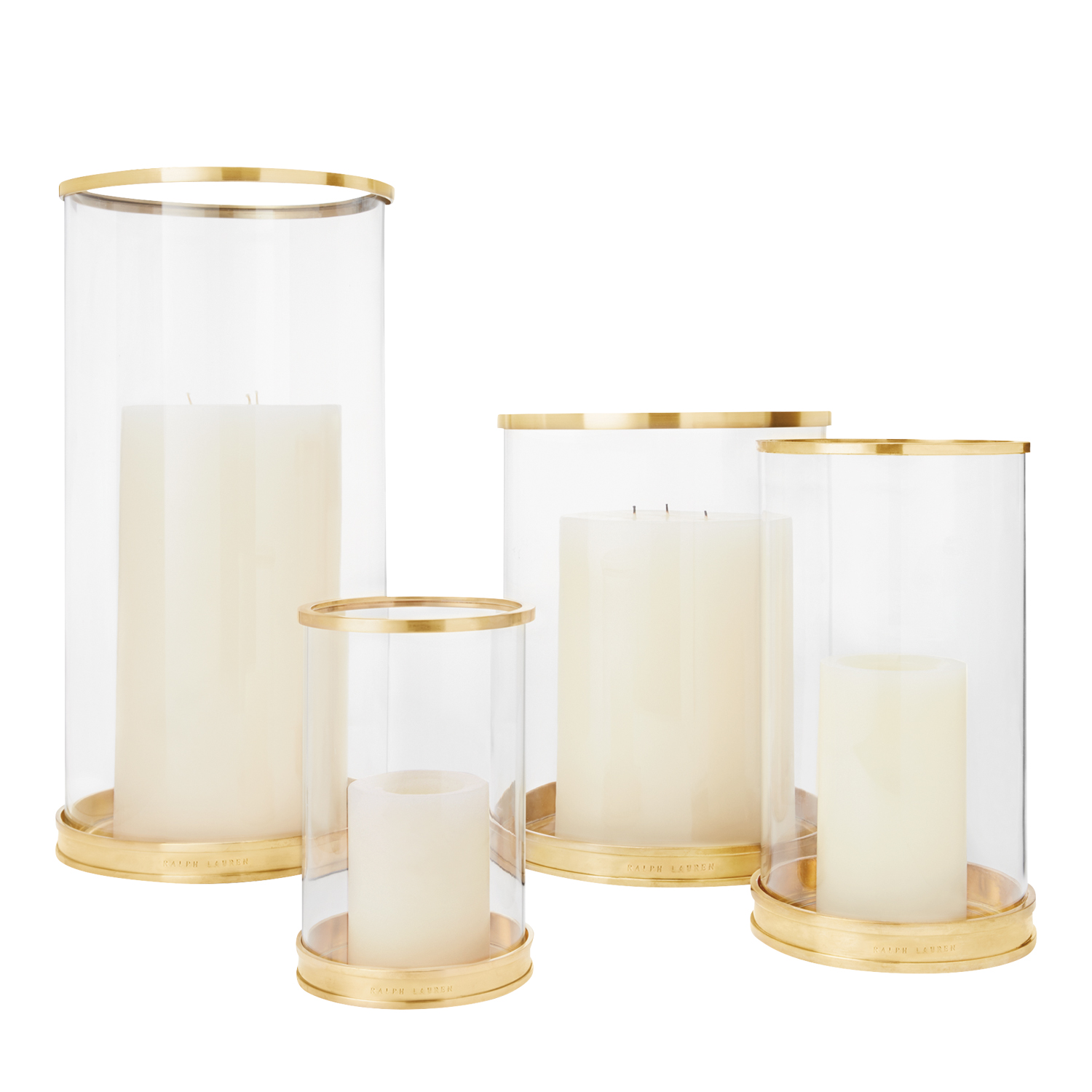 gold trimmed glass candles