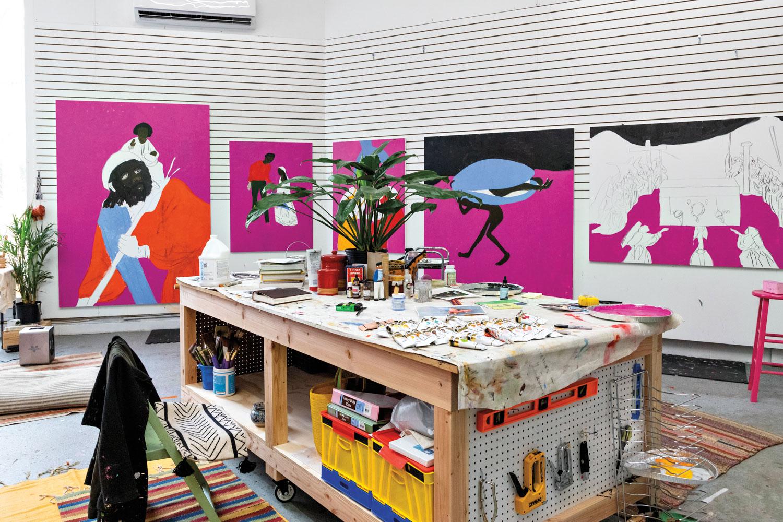 Cassi Namoda's Art Studio