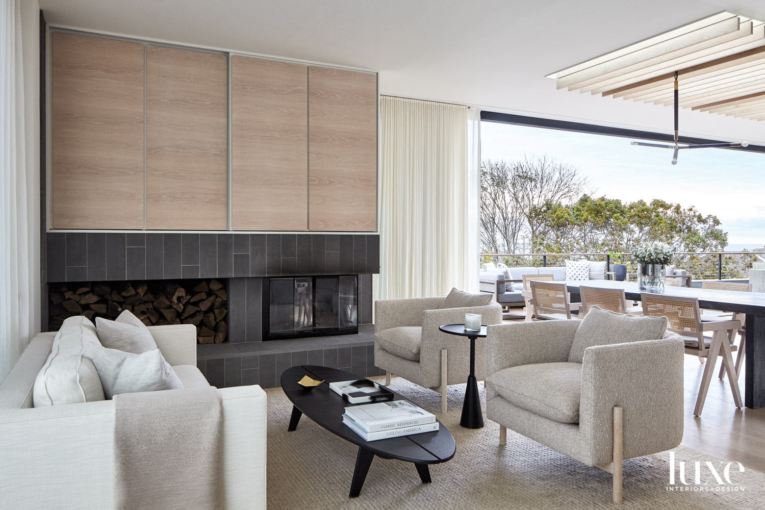 living area with accent chair...