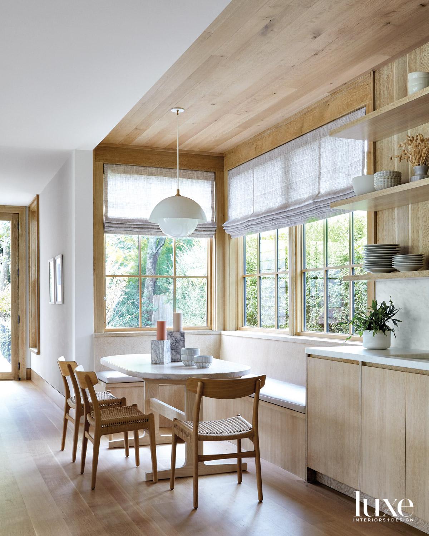 Built in white oak breakfast...