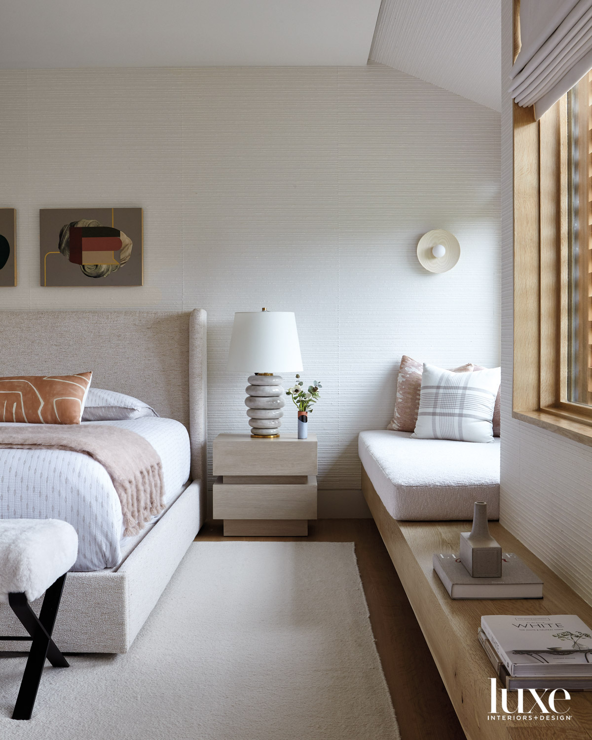 Main bedroom with neutral interiors
