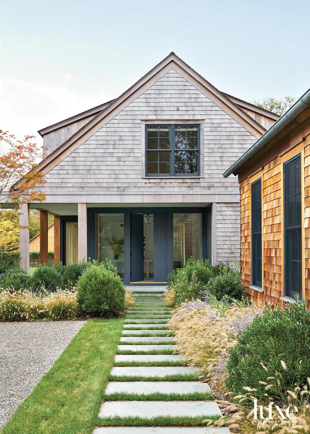 House exterior with natural mix...