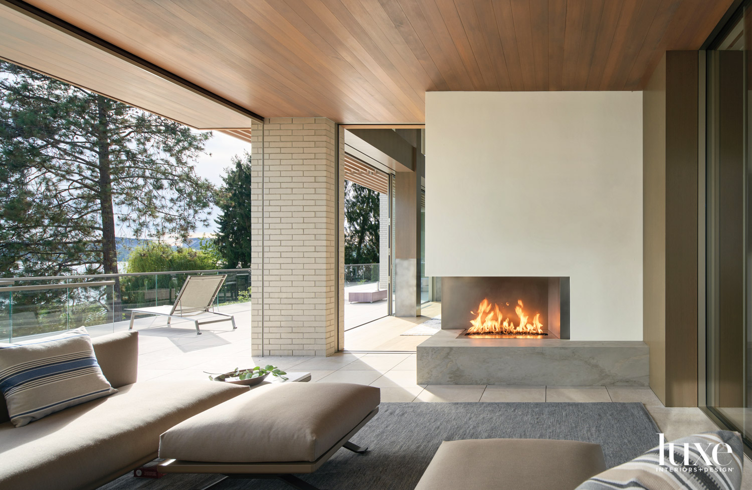 Covered outdoor seating area with...
