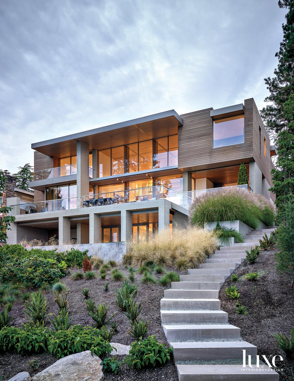 rear facade view of modern...